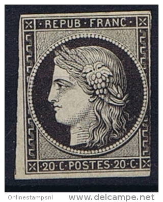 France: 1849, Yv Nr 3 Not Used (*) - 1849-1850 Ceres