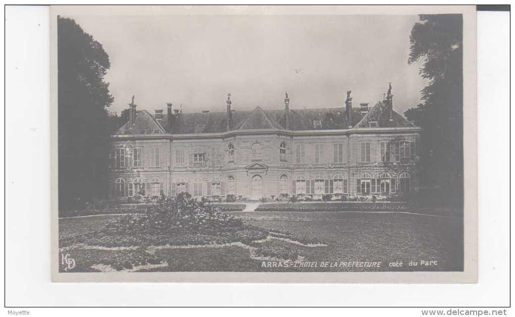 CPA-CPSM-62-ARRAS-L´HOTEL DE LA PREFECTURE-COTE DU PARC-PUB CHOCOLAT PUPIER AU DOS - Arras