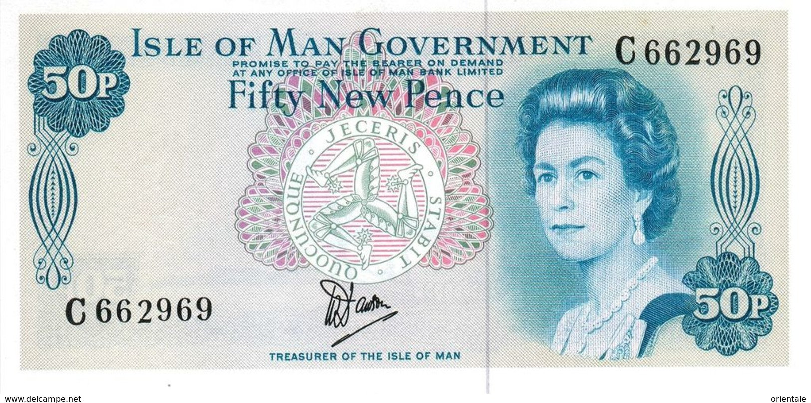 ISLE OF MAN P. 33a 50 P 1979 UNC - 50 New-pence
