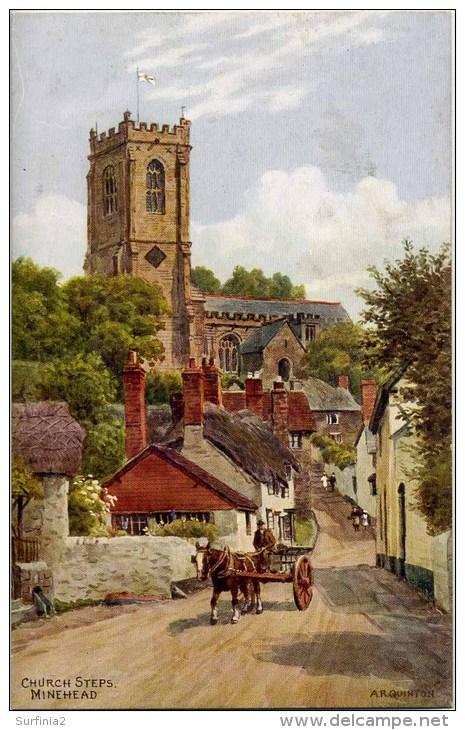 A R QUINTON 3032 - CHURCH STEPS, MINEHEAD - Quinton, AR