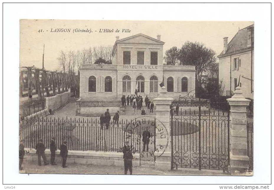 33 LANGON - L'hotel De Ville - Langon