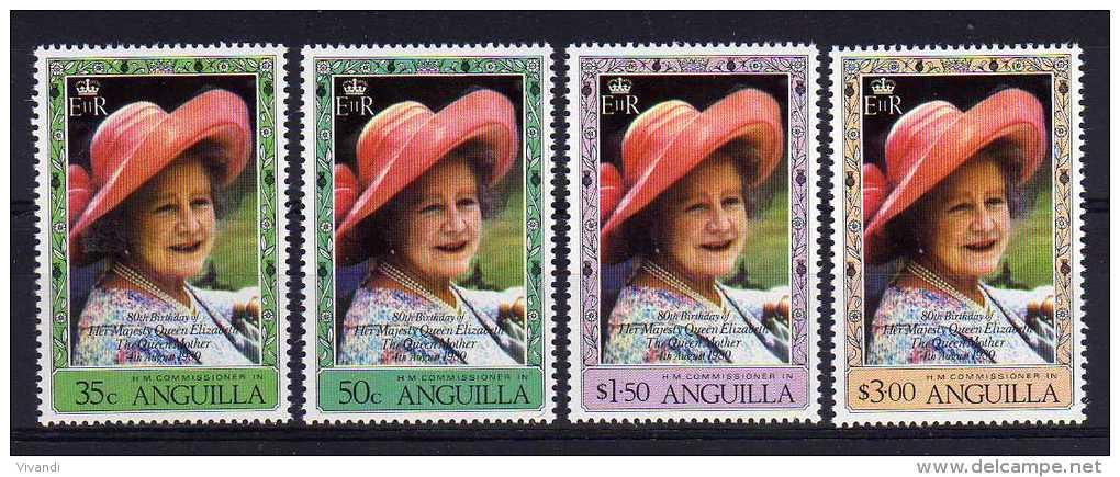 Anguilla - 1980 - Queen Mothers 80th Birthday - MNH - Anguilla (1968-...)