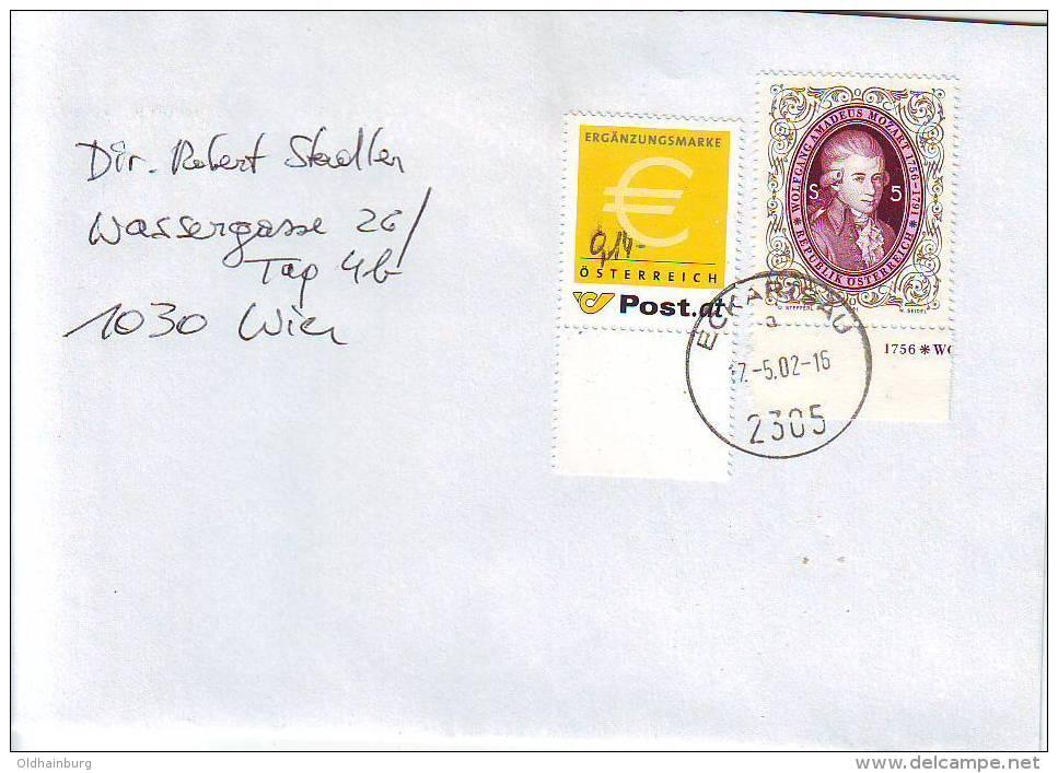 1158d: Ergänzungsmarke 0,14 € Bedarfspost PA 2305 Eckartsau (PA Mittlerweile Geschlossen) - 1945-.... 2nd Republic