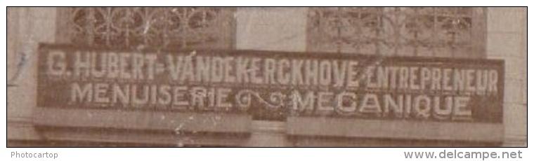 Menuiserie Mecanique-G.Hubert VANDEKERCKHOVE-Flandern-C ARTE PHOTO Allemande-GUERRE 14-18-1WK-Animation-BELGI EN-BELGIQU - Non Classés