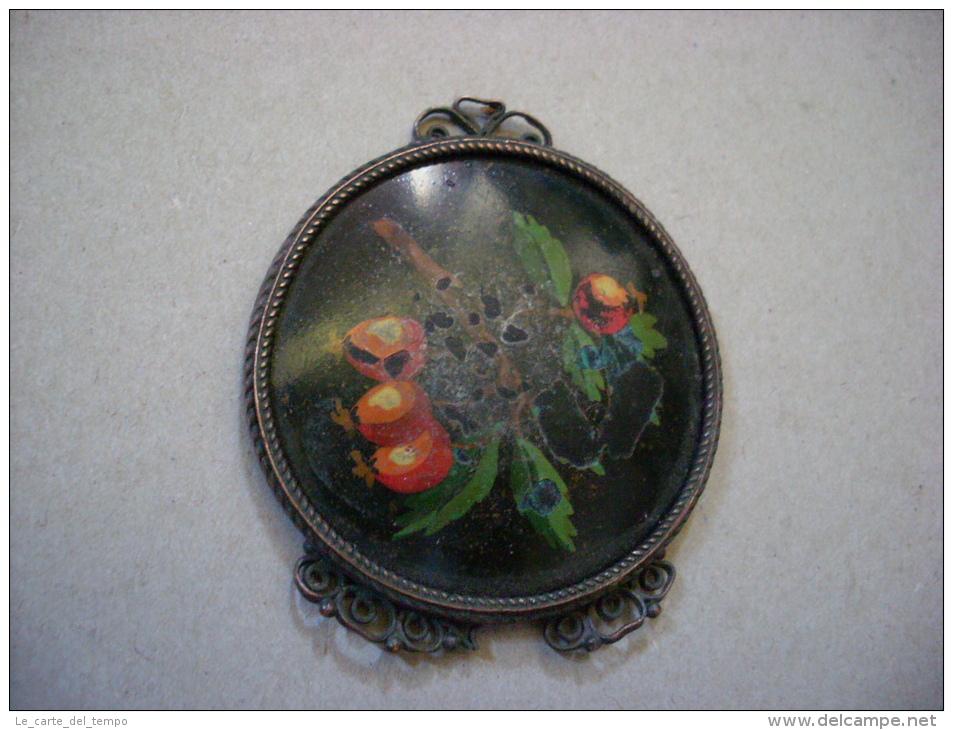 Specchietto Con Xilografia Ramo Con Frutta. Anni ´30 - Parfums & Beauté