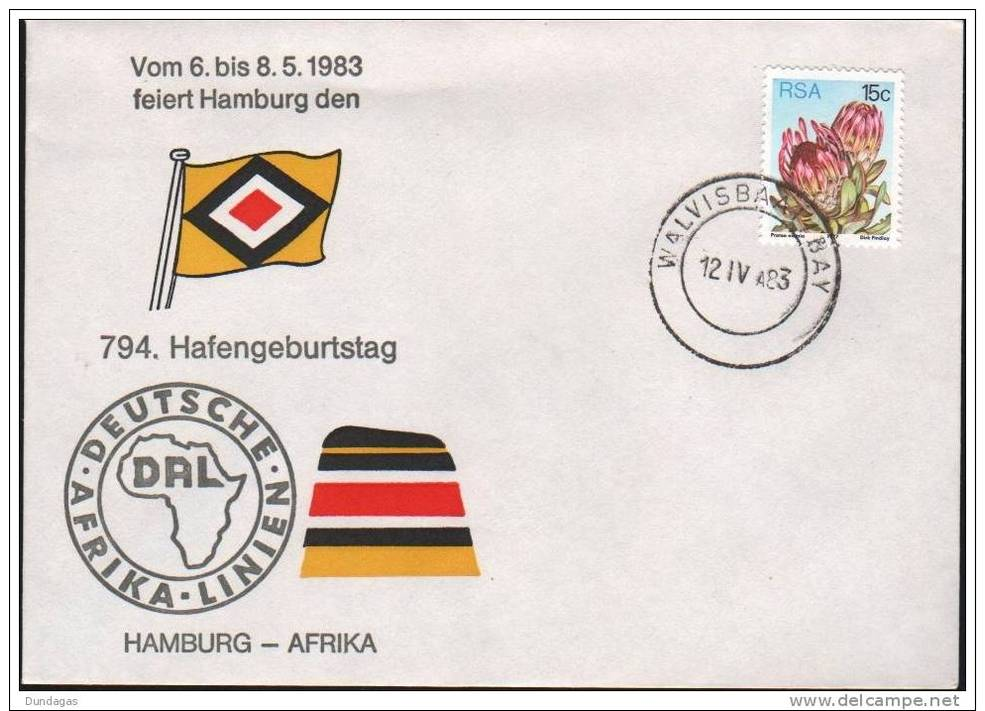 SOUTH AFRICA - 794. HAFENGEBURTSTAG HAMBURG 1984 -WALVISBAY- - South Africa (1961-...)