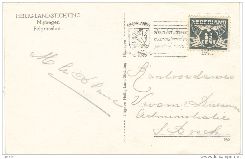 Nederland/Holland, Heilig Landstichting, Pelgrimshuis, 1946. Knik L-boven - Andere