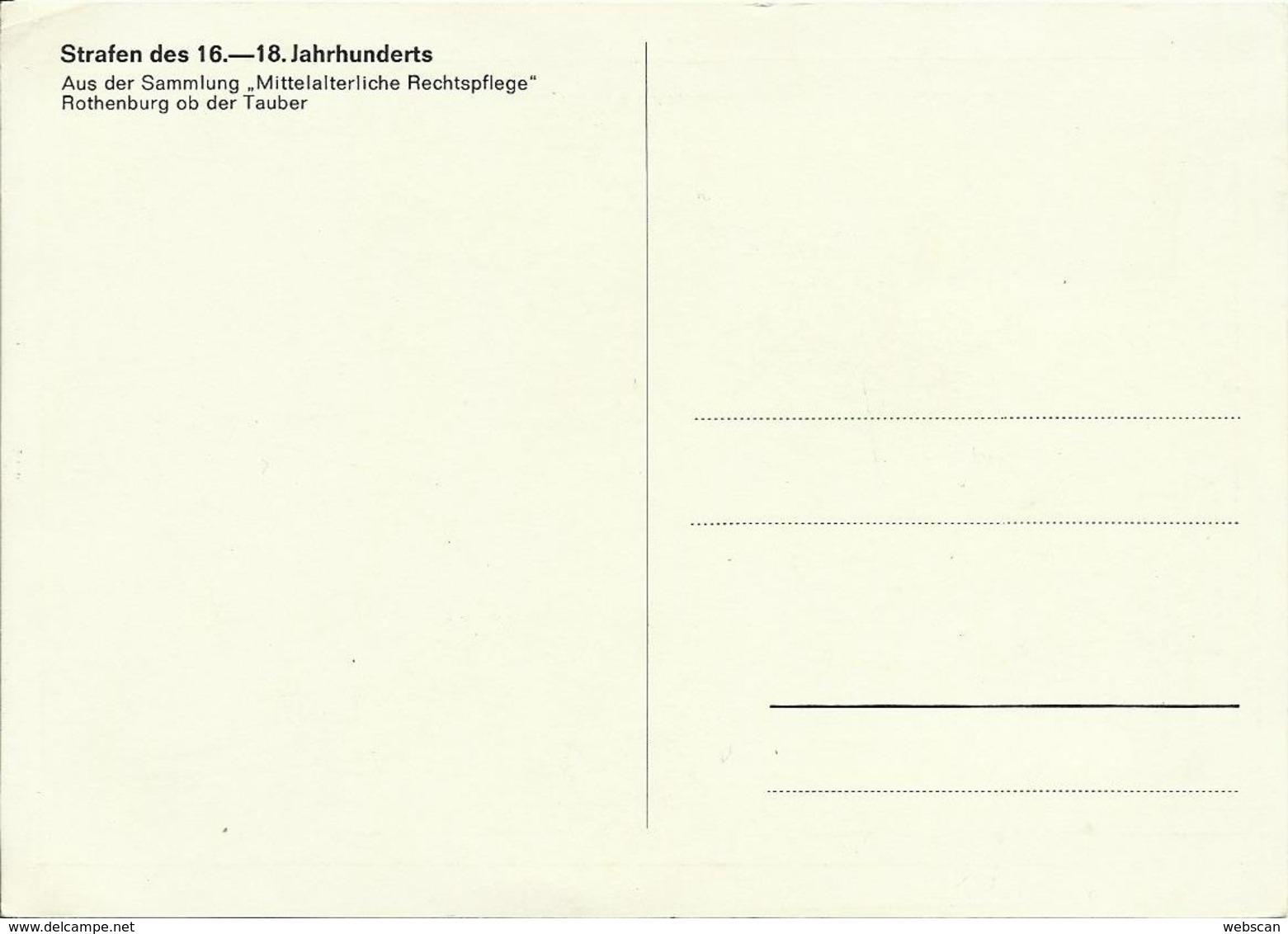 AK Strafe Mittelalter Bäckertaufe Farbfoto ~1960 #2523 - Gefängnis & Insassen