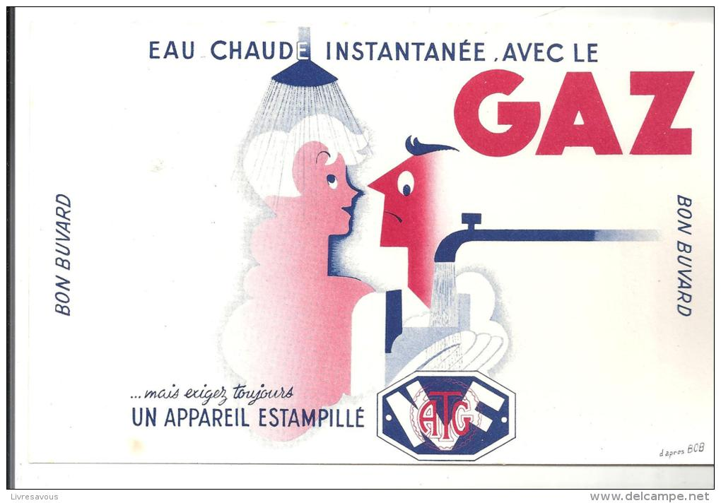 Buvard Eau Chaude Instantanée, Avec Le Gaz Des Années 1960 - Electricité & Gaz
