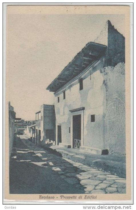 Italy - Ercolano - Prospetti Di Edifici - Ercolano