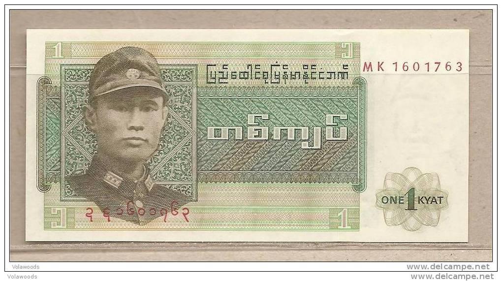 Birmania - Banconota Non Circolata Da 1 Kyat P-56 - 1972 - Myanmar
