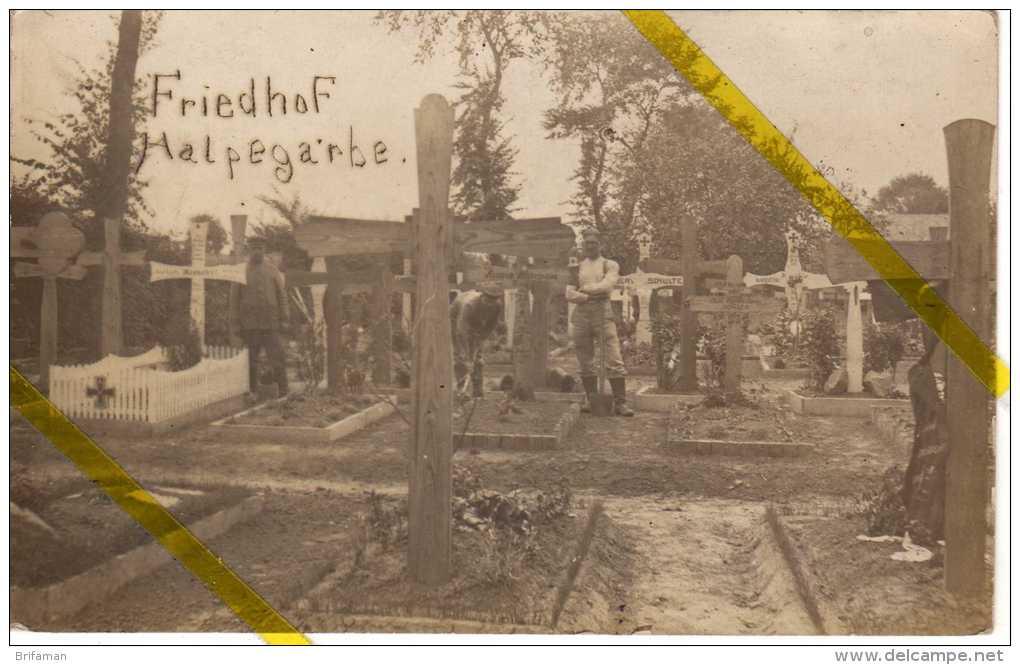 59 NORD HALPEGARBE / ILLIES  Canton De LA BASSEE  CARTE  PHOTO ALLEMANDE MILITARIA 1914 /1918 - Autres Communes