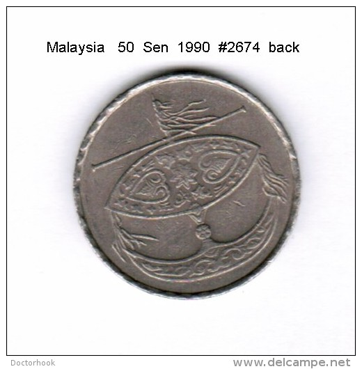 MALAYSIA    50  SEN  1990   (KM # 53) - Malaysia