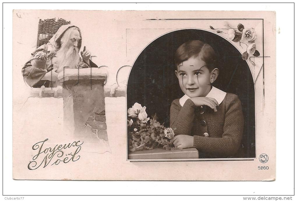 ¨Noël (Fêtes) : GP D´un Portrait De  Père-Noel Et Portrait D'enfant En 1930 (animé)   PF. - Noël