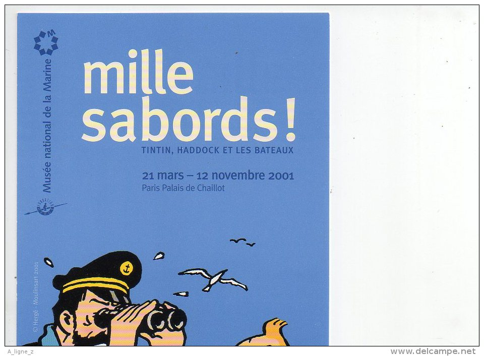 REF 137 : CPM Carte Pub BD  TINTIN Mille Sabords - Comicfiguren