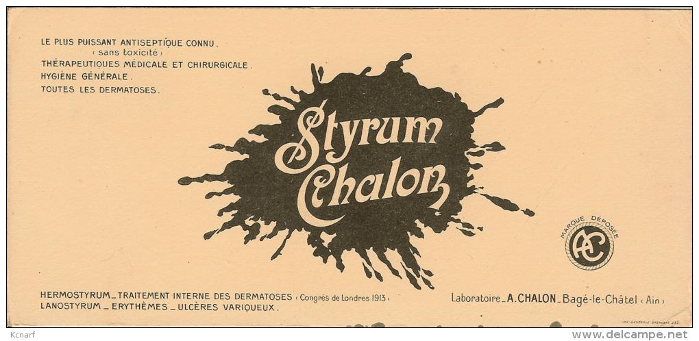 Buvard STYRUM CHALON ( Bagé-le-Chatel ) - M