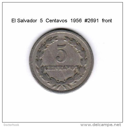 EL SALVADOR   5  CENTAVOS  1956  (KM # 134) - Salvador