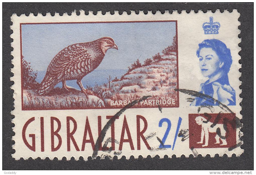 Gibraltar 1960  2/-  SG170  Used - Gibraltar