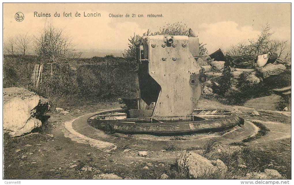 Ruines Du Fort De Loncin - Obusier De 21 Cm Retourné - Liege