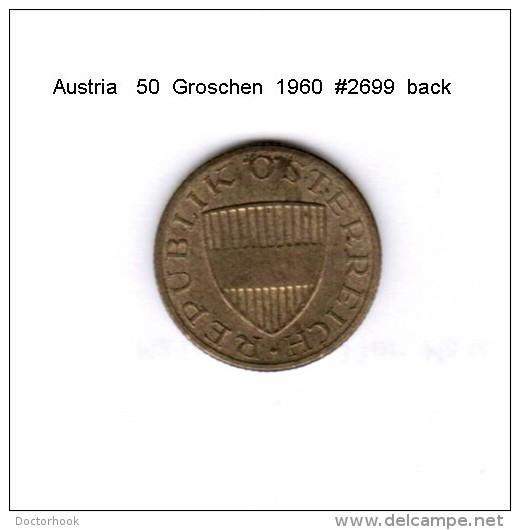AUSTRIA   50  GROSCHEN  1960  (KM # 2885) - Austria