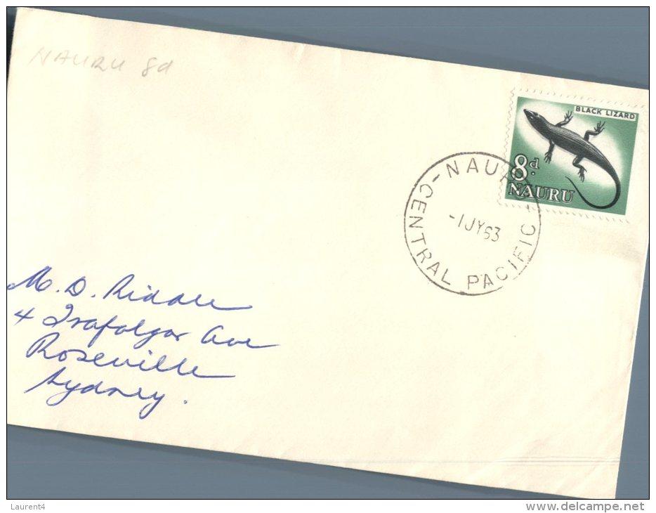 (777) Nauru FDC Cover - 1963 - Nauru