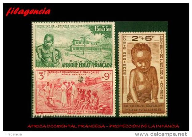 PIEZAS. AFRICA ECUATORIAL FRANCESA MINT. 1942 PROTECCIÓN DE LA INFANCIA - A.E.F. (1936-1958)