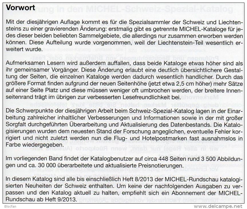 Schweiz+Liechtenstein LBK / MICHEL Spezial Briefmarken Katalog 2013/2014 Neu 68€ UNO Genf Ämter Catalogues Of Helvetia - Deutsch