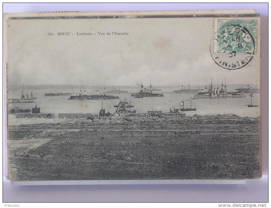 BREST (29) - LANINON - VUE DE L'ESCADRE - 1907 - Brest