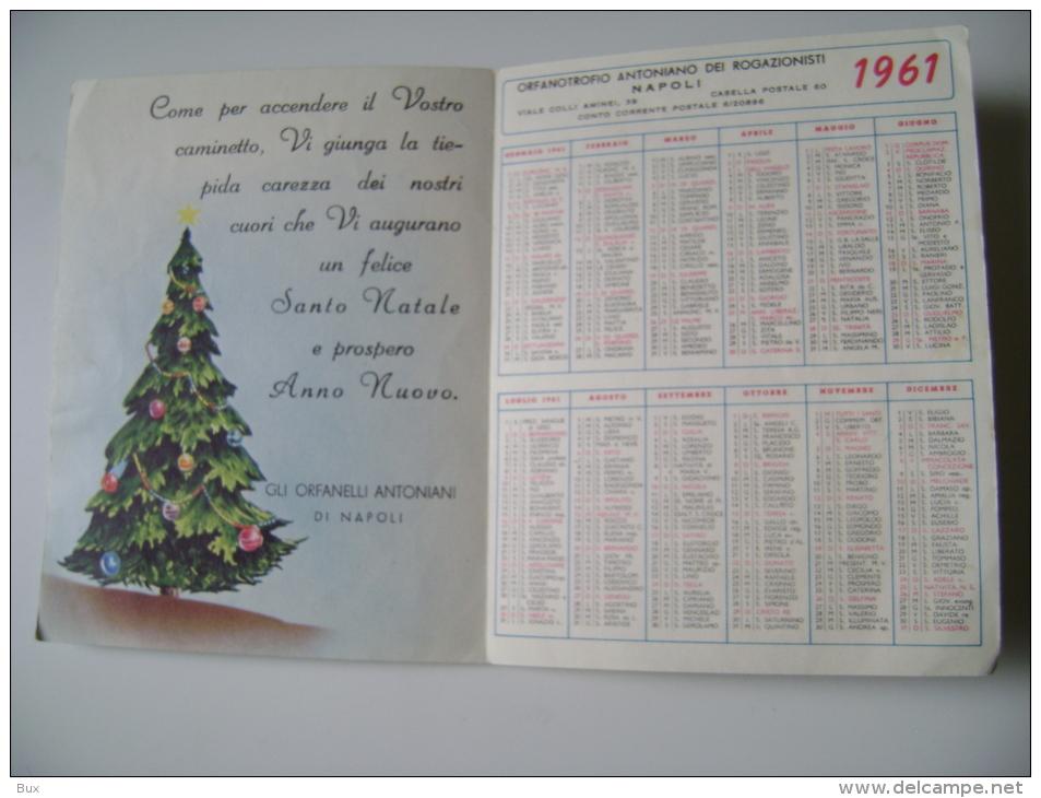 BUON NATALE   ORFANOTROFIO NAPOLI     ITALY  CONDIZIONI COME DA FOTO ITALY CALENDARIO CALENDRIER - Calendriers