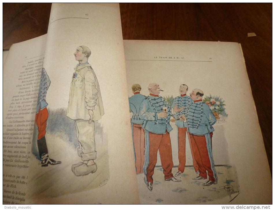LE TRAIN DE 8H47 Par Georges Courteline (447 Pages).illust Guillaume...dédicace De L'auteur Dédiée à Jacques Madeleine - Livres Dédicacés