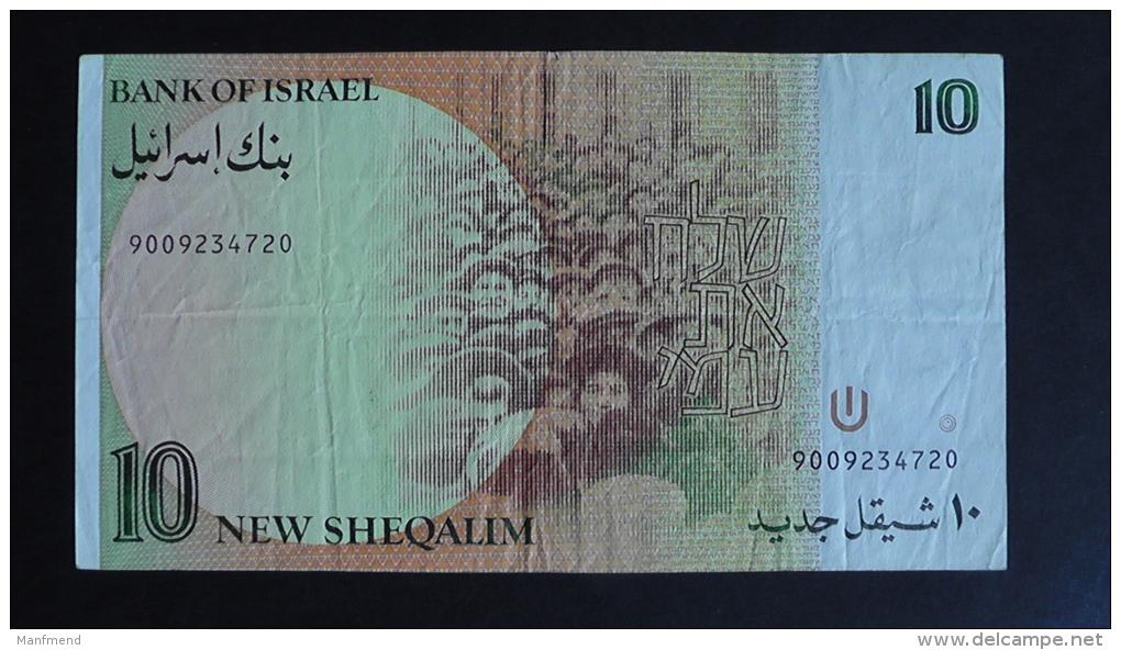 Israel - 10 New Sheqalim - 1985 - P 53a - VF - Look Scan - Israel