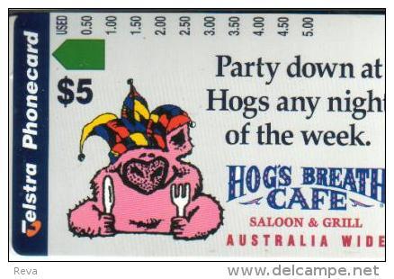 AUSTRALIA $5 PIG ANIMAL HOGS BREATH CAFE AUS-484 MINT READ DESCRIPTION !! - Australia