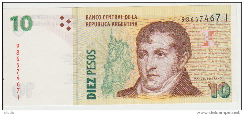 Argentina 10 Pesos 2002 Pick 354 UNC - Argentine