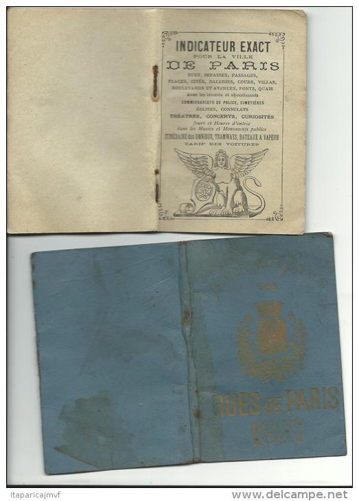 R :petit Livre  Les  Rues De  Paris  1897 ; 96 Pages  ; - Livres, BD, Revues