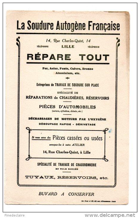 Buvard - La Soudure Autogène Française - Lille - Buvards, Protège-cahiers Illustrés
