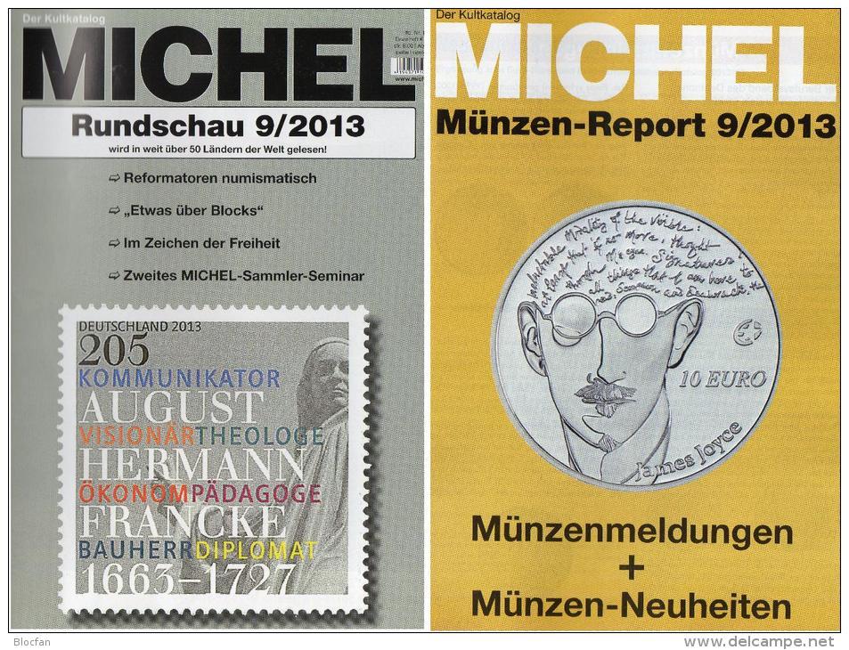 Briefmarken Rundschau MICHEL 9/2013 Neu 5€ New Stamps Of The World Catalogue Magacine Of Germany ISBN 4 194371 105009 - Alemán