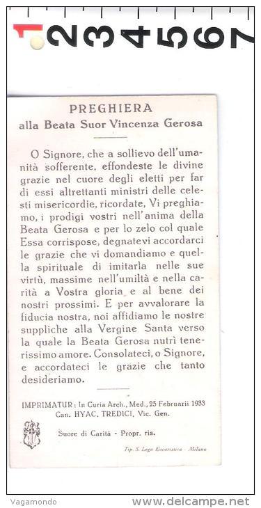 S 7  SANTINI  BEATA SUOR VINCENZA GEROSA PREGHIERA - Santini