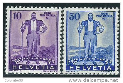 Svizzera 1936 Nuovo* - Mi.294;296  Yv.286;288  Vedi SCAN - Pro Patria