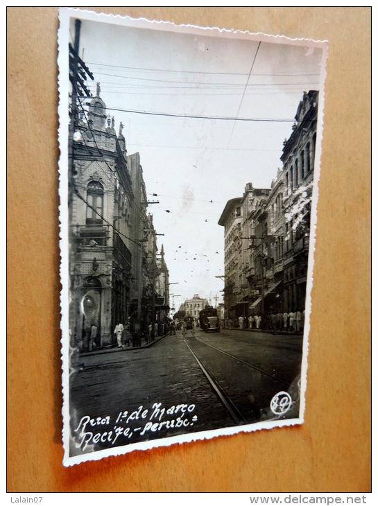 Carte Postale Photo : RECIFE : Rua 1 De Março - Recife