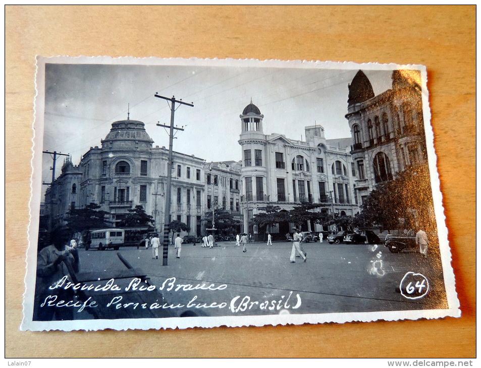 Carte Postale Photo : RECIFE : Avenida Rio Branco - Recife
