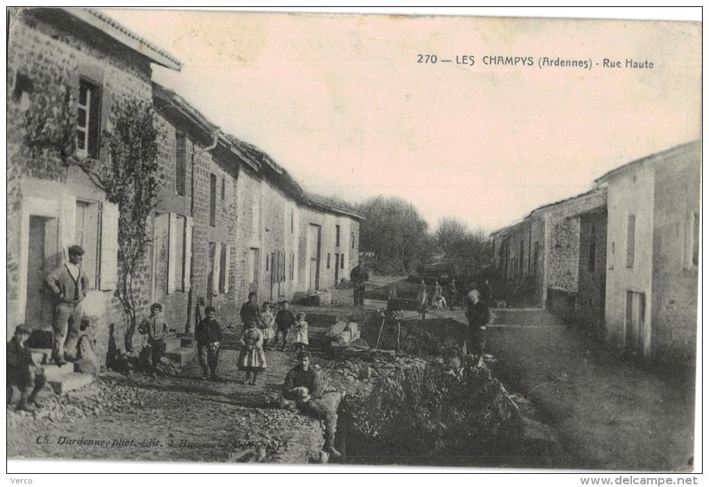 Carte Postale Ancienne De LES CHAMPYS - Other Municipalities