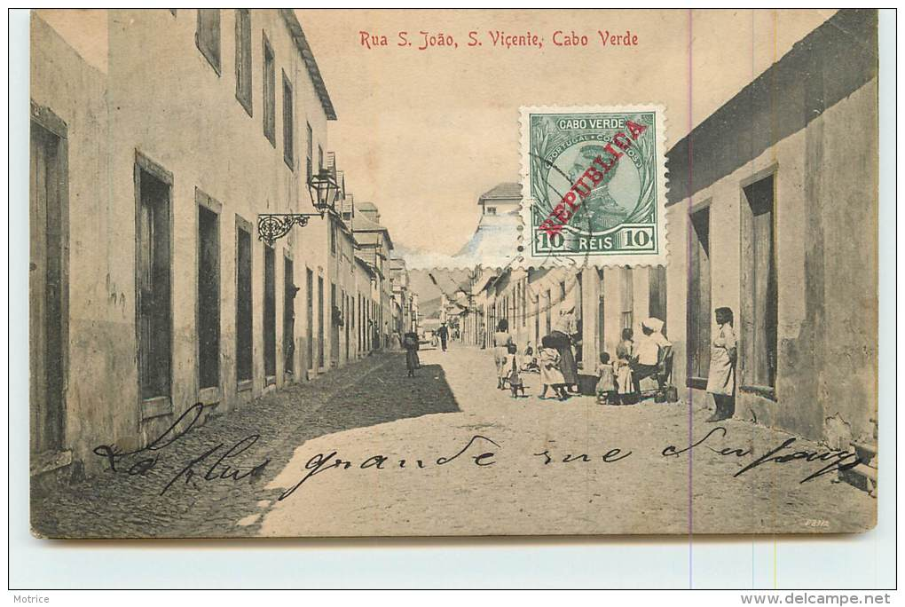 CABO VERDE  - S Vicente, Rua S.Joao. - Cap Vert