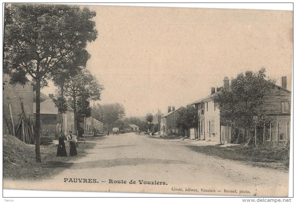 Carte Postale Ancienne De PAUVRES - Other Municipalities