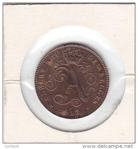 2 Centimes Cuivre Albert II 1912 FR - 02. 2 Centimes