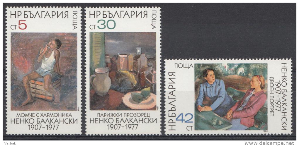 BULGARIJE / BULGARIEN MI.NR. 3286-3288  MNH / POSTFRIS / NEUF SANS CHARNIERE 1984 - Nuovi