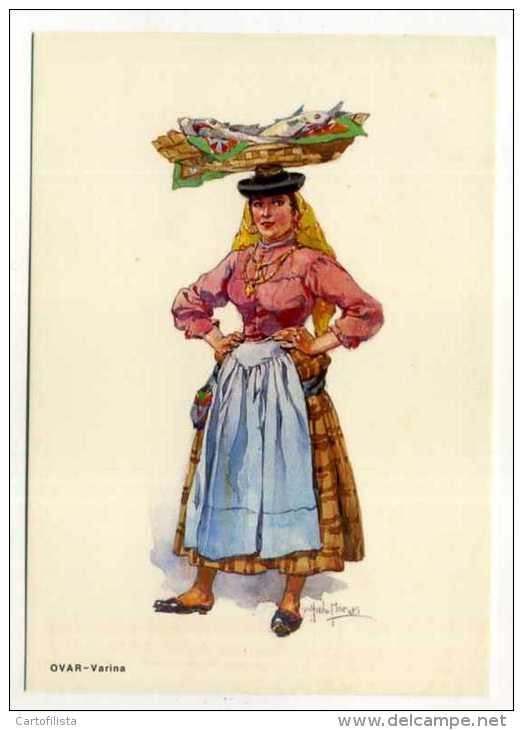OVAR- Costumes, Varina , Desenho De Alfredo Moraes  (2 Scans) - Aveiro