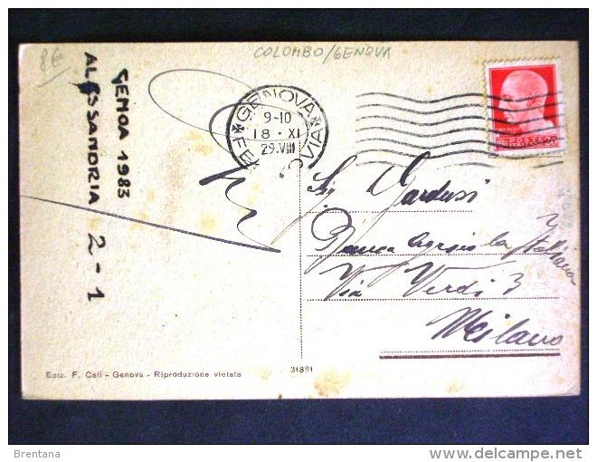 LIGURIA -GENOVA -COLOMBO -F.P. LOTTO N°309 - Genova