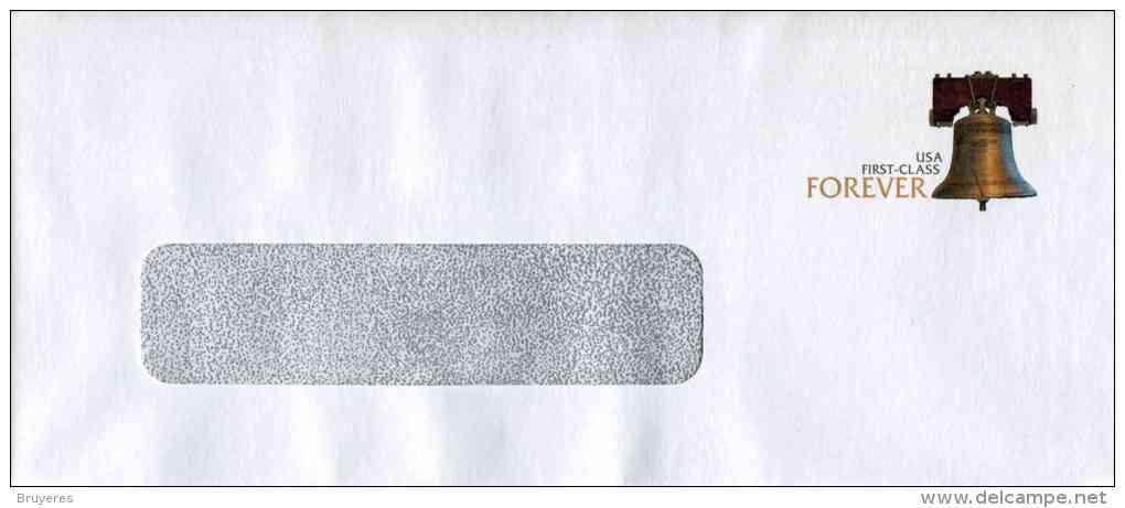 """Entier Postal De 2011 Sur Env. Sécurisée Avec Fenêtre Et Timbre """"Liberty Bell"""" - Rabat Autocollant - Format 98 X 226 Mm - Entiers Postaux"""