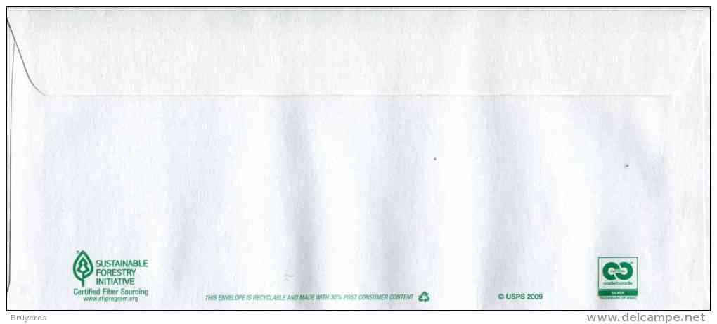 """Entier Postal De 2011 Sur Env. Sécurisée Avec Fenêtre Et Timbre """"Liberty Bell"""" - Rabat Autocollant - Format 98 X 226 Mm - 2011-..."""