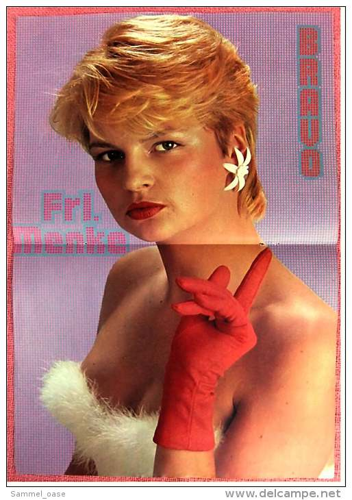 Kleines Musik Poster  -  Frl. Menke  -  Von Bravo Ca. 1982 - Plakate & Poster